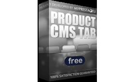 ماژول رایگان نمایش CMS در زبانه محصولات