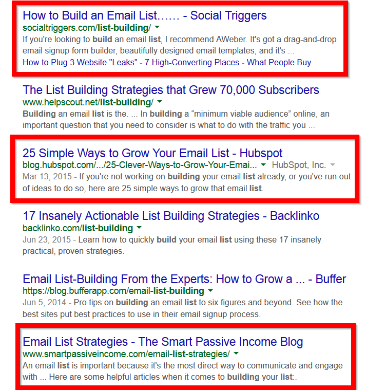 ۶ نتیجه اول گوگل